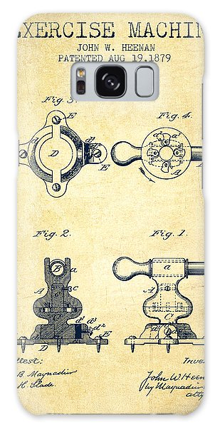 Workout Galaxy Case - Exercise Machine Patent From 1879 - Vintage by Aged Pixel