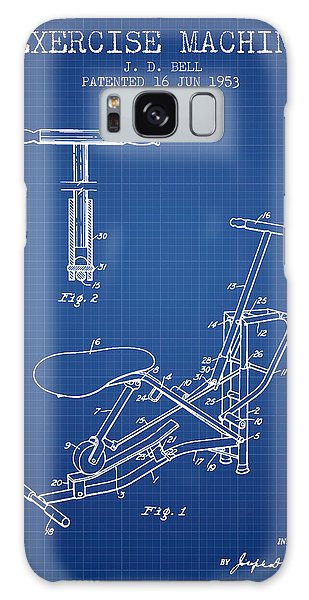 Workout Galaxy Case - Exercise Machine Patent From 1953 - Blueprint by Aged Pixel