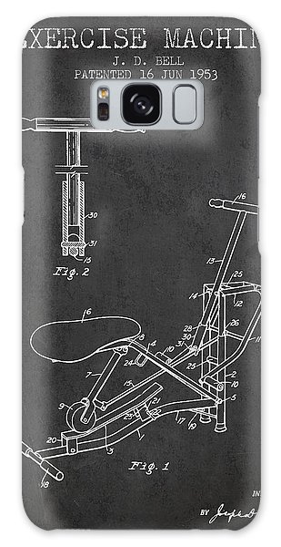 Workout Galaxy Case - Exercise Machine Patent From 1953 - Charcoal by Aged Pixel