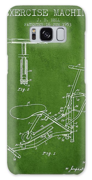 Workout Galaxy Case - Exercise Machine Patent From 1953 - Green by Aged Pixel