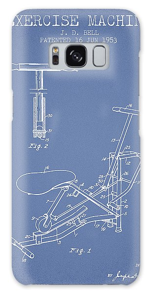 Workout Galaxy Case - Exercise Machine Patent From 1953 - Light Blue by Aged Pixel