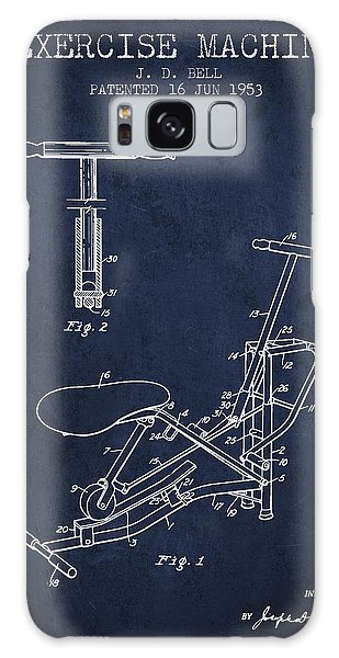 Workout Galaxy Case - Exercise Machine Patent From 1953 - Navy Blue by Aged Pixel