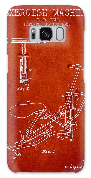 Workout Galaxy Case - Exercise Machine Patent From 1953 - Red by Aged Pixel