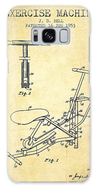 Workout Galaxy Case - Exercise Machine Patent From 1953 - Vintage by Aged Pixel