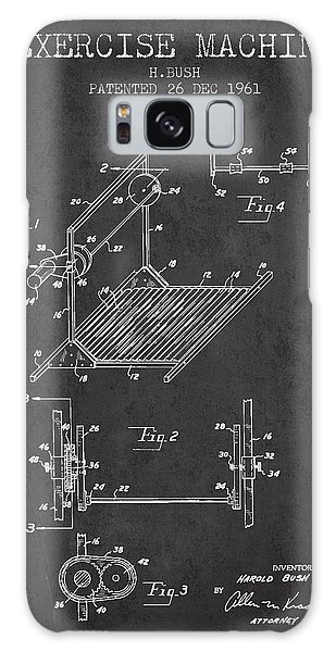 Workout Galaxy Case - Exercise Machine Patent From 1961 - Charcoal by Aged Pixel