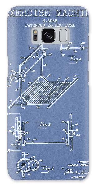 Workout Galaxy Case - Exercise Machine Patent From 1961 - Light Blue by Aged Pixel
