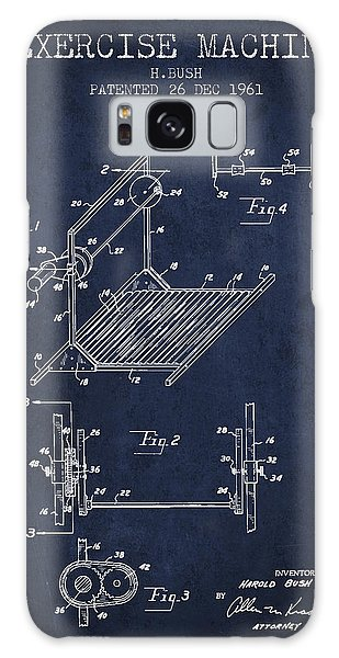 Workout Galaxy Case - Exercise Machine Patent From 1961 - Navy Blue by Aged Pixel