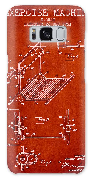 Workout Galaxy Case - Exercise Machine Patent From 1961 - Red by Aged Pixel