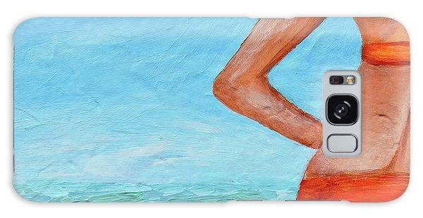 Exhale Softly Galaxy Case by Donna Blackhall