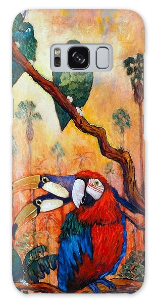 Exotic Birds Of South America  Galaxy Case by Charles Munn