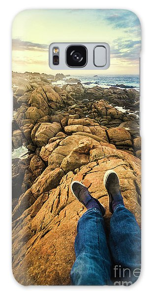 West Bay Galaxy Case - Exploring The Beaches Of Western Tasmania by Jorgo Photography - Wall Art Gallery