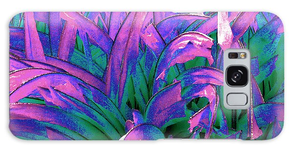 Galaxy Case featuring the painting Expressive Abstract Grass Series A1 by Mas Art Studio