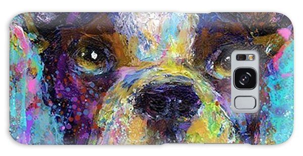 Galaxy Case - Expressive Boston Terrier Painting By by Svetlana Novikova