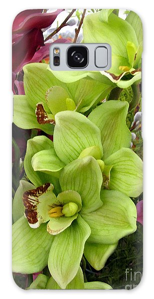 Galaxy Case featuring the painting Expressive Botanical Orchids 715 by Mas Art Studio
