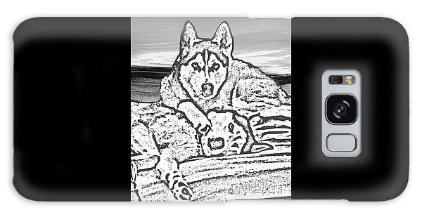 Galaxy Case featuring the photograph Expressive Huskies Mixed Media G51816_e by Mas Art Studio