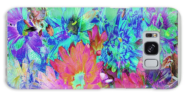 Galaxy Case featuring the painting Expressive Digital Still Life Floral B721 by Mas Art Studio