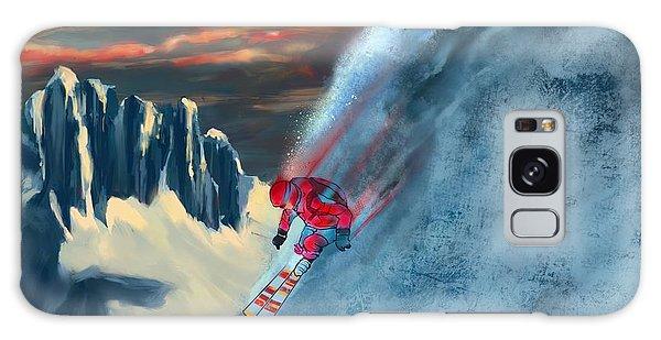 Extreme Ski Painting  Galaxy Case
