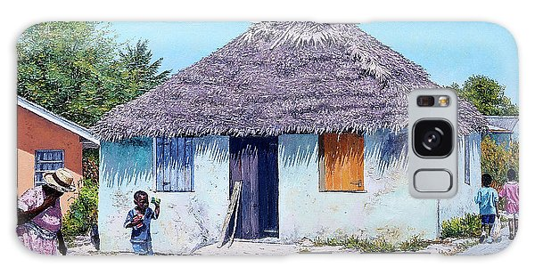 Exuma Thatch Hut Galaxy Case