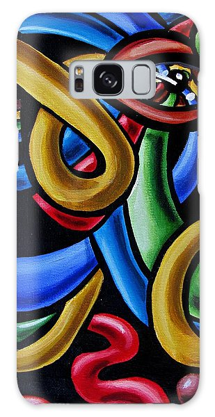Colorful Illusion Optical Eye Art Painting Chromatic Art - Multicolor Chromatic Energy Flow Art  Galaxy Case