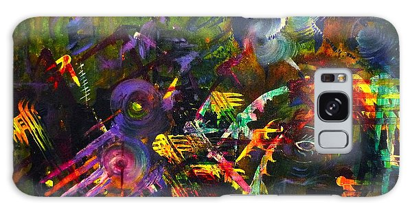Eye In Chaos Galaxy Case by Claire Bull