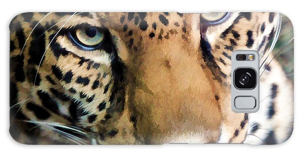 Eye Of The Leopard Galaxy Case by Athena Mckinzie