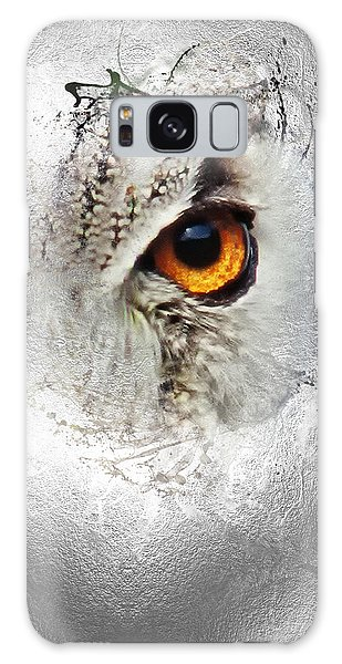 Galaxy Case featuring the photograph Eye Of The Owl 2 by Fran Riley