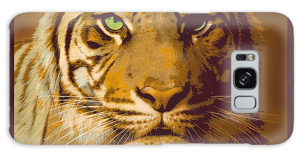 Eye Of The Tiger Animal Portrait  Galaxy Case