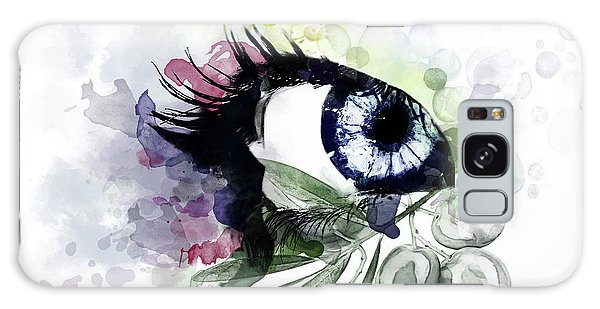 Olive Branch Galaxy Case - Eye by Photo Design AJ