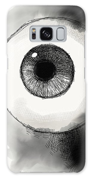 Galaxy Case featuring the digital art Eyeball by Antonio Romero