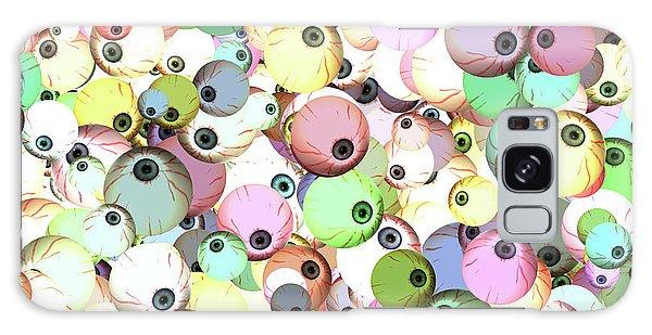 Eyeballs Galaxy Case by Methune Hively