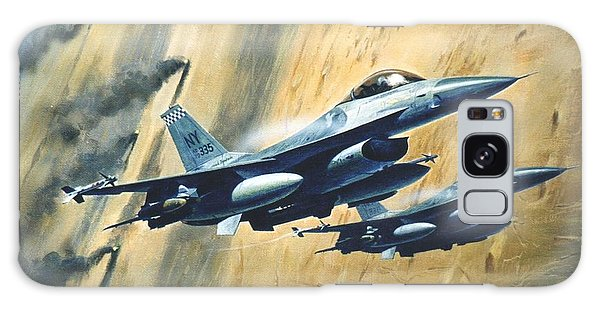 'f16 Desert Storm' Galaxy Case by Colin Parker