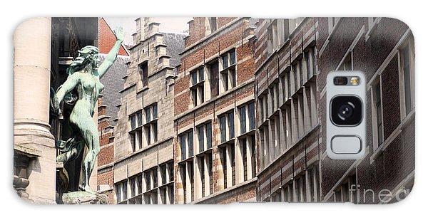 Facade Figure In Antwerp Belgium Galaxy Case