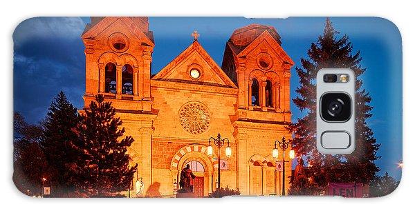 Sangre De Cristo Galaxy Case - Facade Of Cathedral Basilica Of Saint Francis Of Assisi At Twilight- Santa Fe New Mexico by Silvio Ligutti
