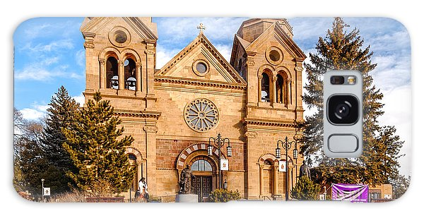 Sangre De Cristo Galaxy S8 Case - Facade Of Cathedral Basilica Of Saint Francis Of Assisi - Santa Fe New Mexico by Silvio Ligutti