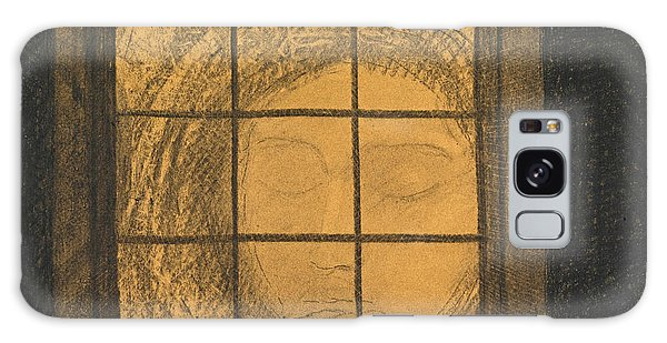 Impressionistic Galaxy Case - Face Behind A Window  by Odilon Redon