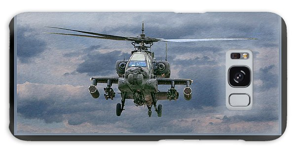 Face Of Death Ah-64 Apache Helicopter Galaxy Case