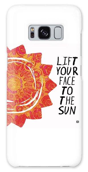 Face To The Sun Galaxy Case