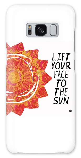 Face To The Sun Galaxy Case