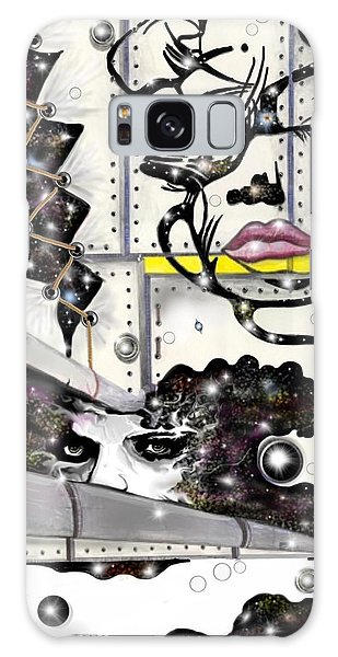 Faces In Space Galaxy Case by Darren Cannell