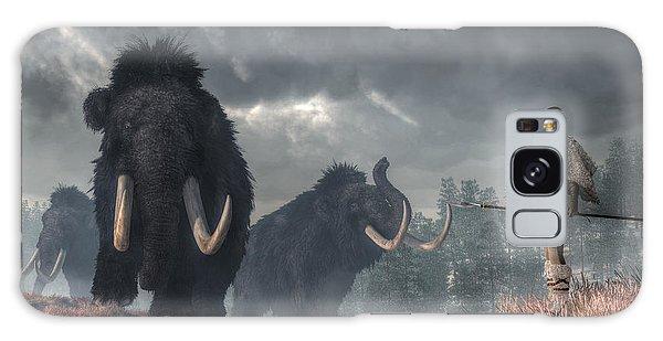 Facing The Mammoths Galaxy Case by Daniel Eskridge