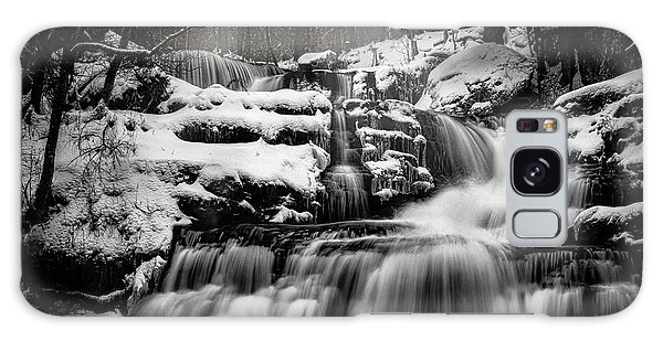 Galaxy Case featuring the photograph Factory Falls In Winter by Chris Lord