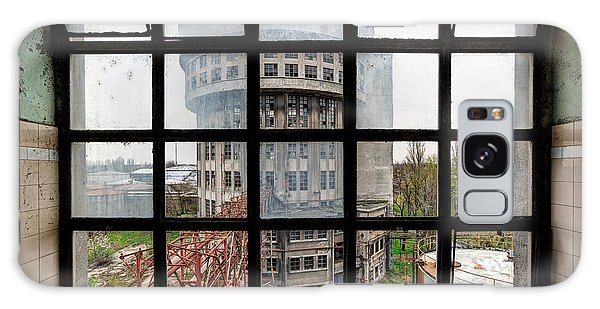 Desert View Tower Galaxy Case - Factory Tower Behind The Window - Industrial Decay by Dirk Ercken