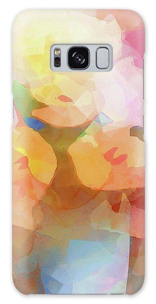Faded Flowers Galaxy Case