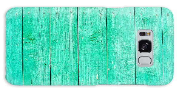 Fading Aqua Paint On Wood Galaxy Case by John Williams
