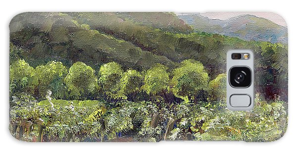 Galaxy Case featuring the painting Fainting Goat Valley - Vineyards -  Jasper, Ga by Jan Dappen