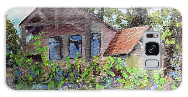 Galaxy Case featuring the painting Fainting Goat Vineyard Through The Vines by Jan Dappen