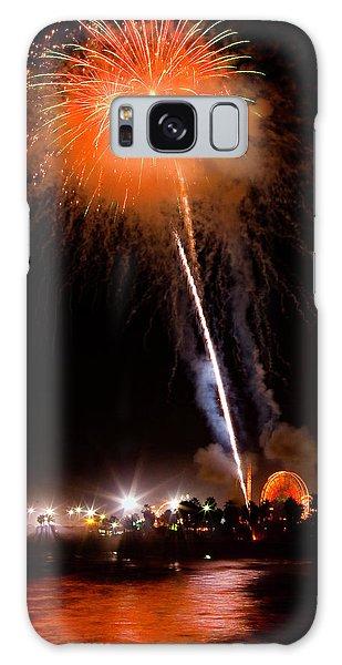 Fireworks As Seen From The Ventura California Pier Galaxy Case