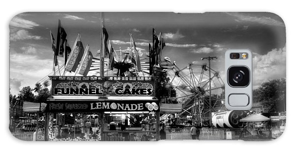 Fair Food In Black And White Galaxy Case