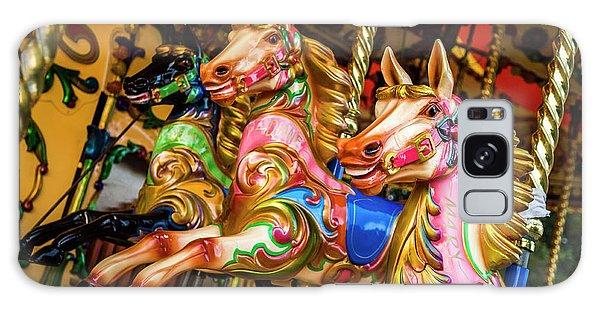 Fairground Carousel Horses Galaxy Case