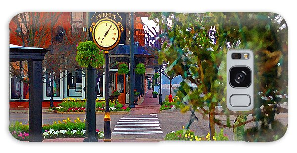 Fairhope Ave With Clock Down Section Street Galaxy Case